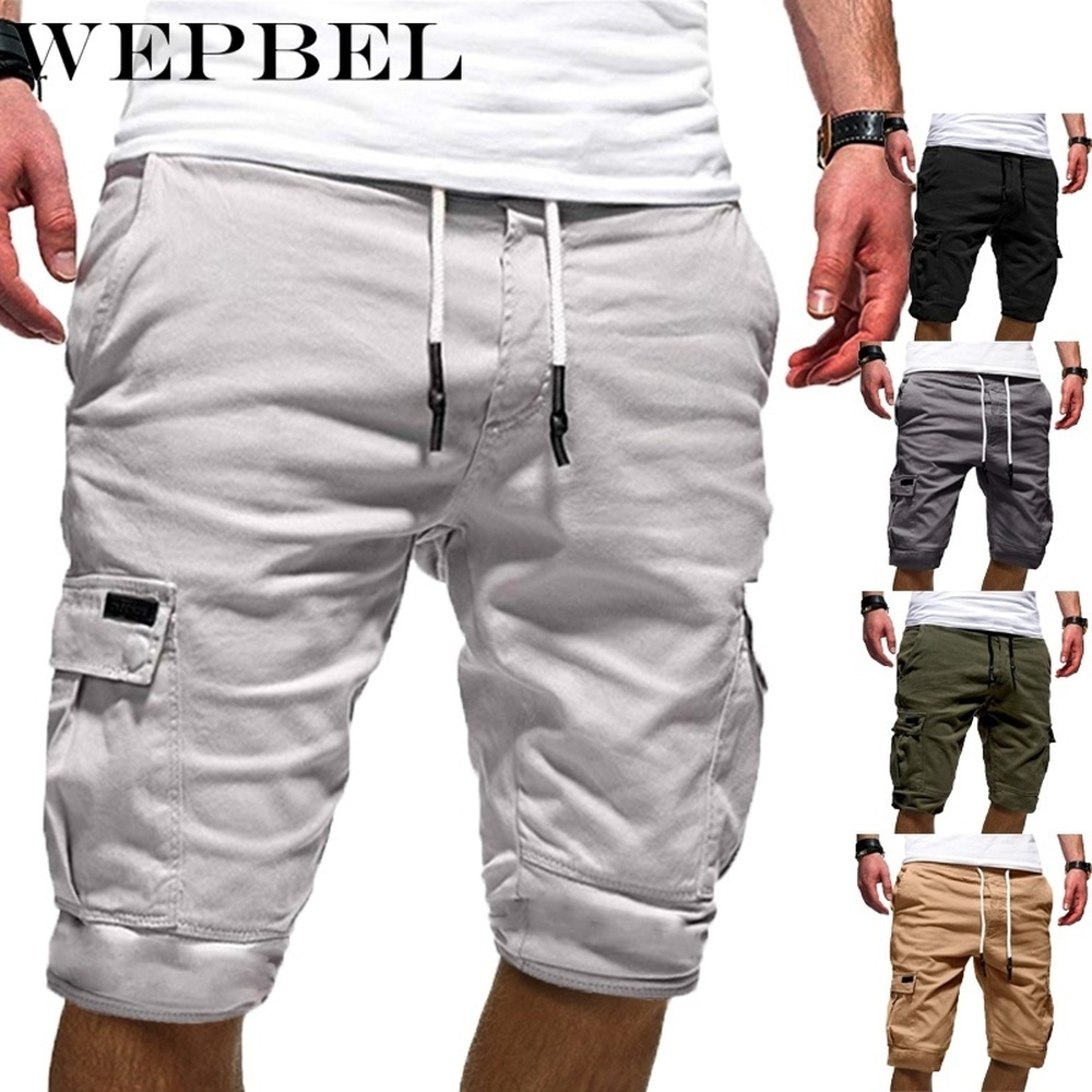 WEPBEL Summer Short Pants Men Fashion Summer Beach Trousers Loose Men Pants Shorts