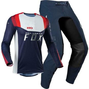 2020 kombinezon wyścigowy 180 odzież Motocross Jersey i spodnie motocykl męski zestaw do hondy przekładnia motocyklowa zestaw Mx Combo H tanie i dobre opinie Unisex MOTO MX FOX 100 poliester