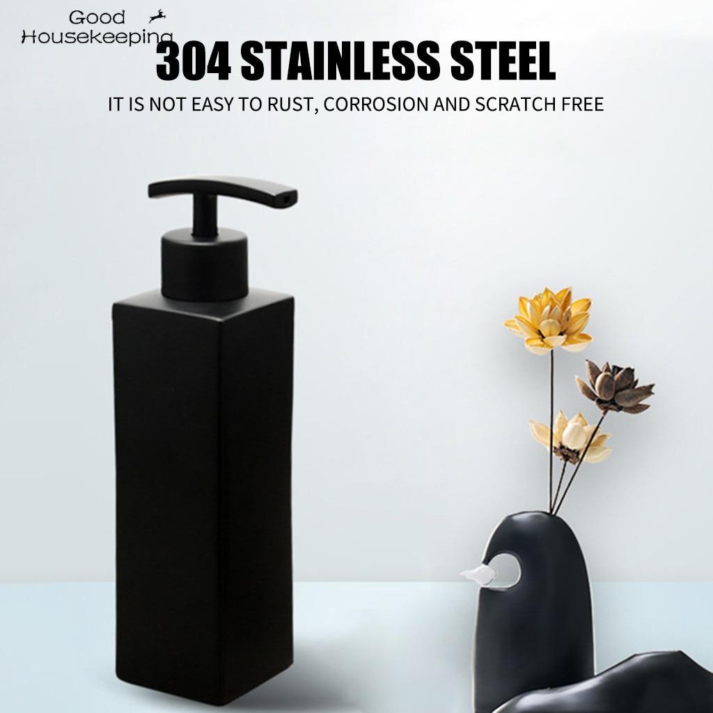 #H40 New Stainless Steel Handmade Black Liquid Soap Dispenser Bathroom Soap Dispensers Kitchen Hardware Convenient Accessories