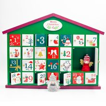 Wooden Christmas Advent Countdown Calendar Box 24 Drawers Candy Gift Boxes Home Decoration