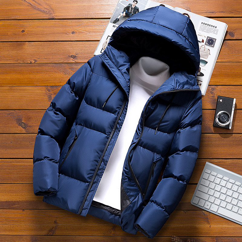2019 New Men's Cultivate One's Morality Tide Hooded Winter Jacket In Winter Youth Handsome Joker Current  COAT