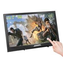 터치 스크린 10.1 인치 2K 2560*1600 휴대용 게임 모니터, IPS LCD 모니터 PC PS3/4 Xbox360 태블릿 디스플레이 Windows 7 8 10