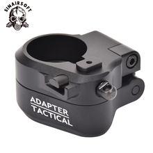 Adaptateur de Stock pliant noir AR tactique M16 M4 SR25 série GBB(AEG) pour accessoires de chasse de tir de Paintball Airsoft