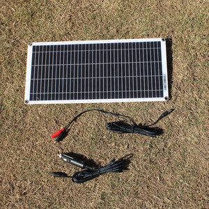 Image 3 - Semi flexible 10W 18V Portable Solar Panel with DC 5521 Cable For 12V Car