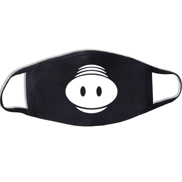 Lovely Cartoon Cotton Dust Masks Mouth Full Of Teeth Mask Festive Party Respirator Expression Respirator Mask Black Kpop Mask 4