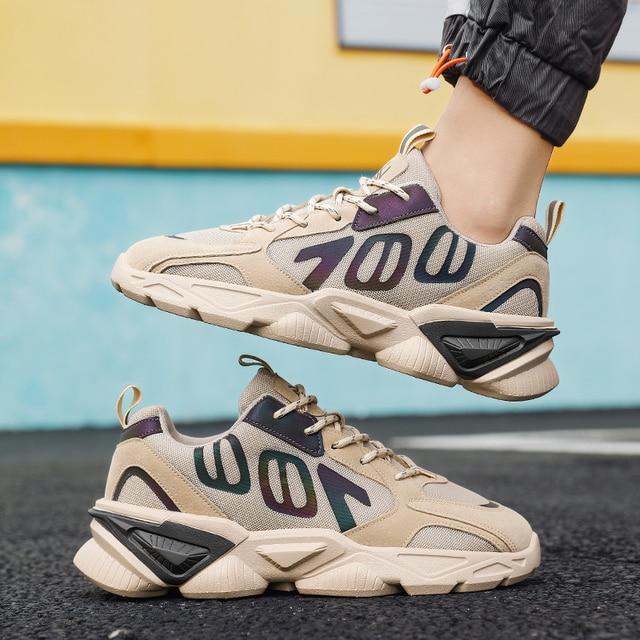 QGK-Zapatillas deportivas de malla transpirable para hombre, Tenis masculinos para correr, informales, para exteriores, Primavera/Verano, 700 2