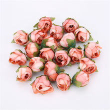 10 pçs do vintage artificial seda rosa botões de chá flores bud diy artesanato decoração do quarto de casamento festa de natal decoração de ano novo