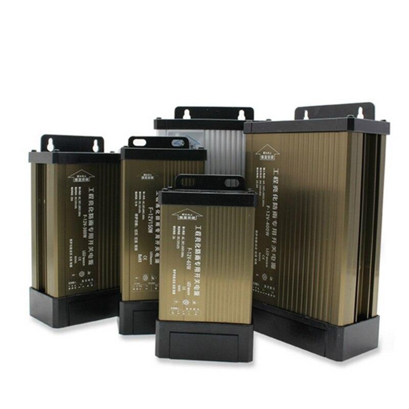 Neue 5V 12 V 24 V Regendicht Schaltnetzteil IP43 DC12V 60W 100W 150W 200W 300W 400W 500W 220V LED outdoor Transformator