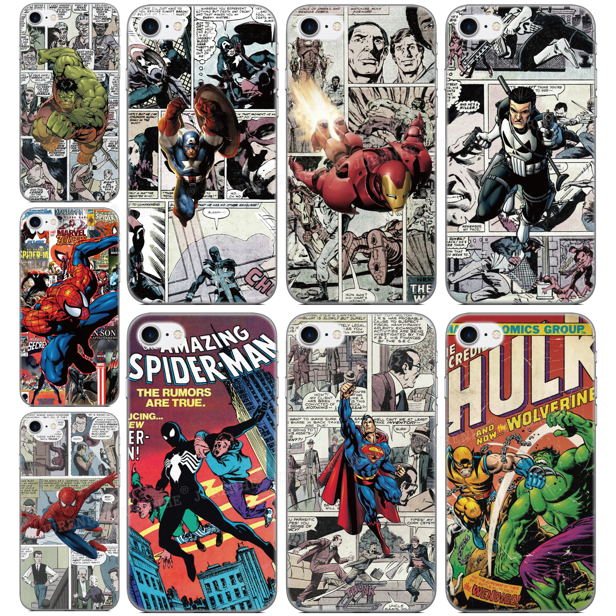 Soft Silicone Custom Photo Marvel Comics Cover For <font><b>TP</b></font>-<font><b>Link</b></font> <font><b>Neffos</b></font> C9S C9 Max X20 Pro <font><b>C5</b></font> <font><b>Plus</b></font> C9A C5A C7 Y7 C9 X9 N1 Phone <font><b>Case</b></font> image
