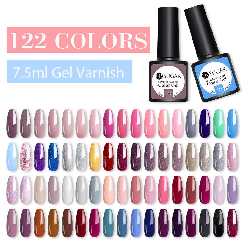 UR GULA 122 Warna Kuku Gel Polandia Set UV Varnish Semi Permanen Rendam Off Gel Varnish Nail Art Kit Manikur gel Polandia