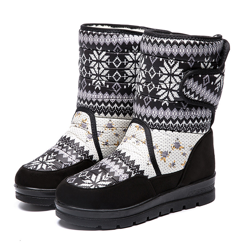 Women Boots Low Mid Calf Trainers Shoes Light Weight Sneakers Warn Winter Design