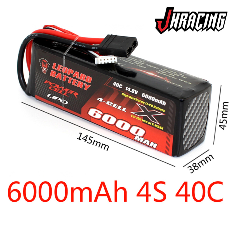 LEOPARD <font><b>6000MAH</b></font> <font><b>4S</b></font> 14.8V 40C high discharge <font><b>LIPO</b></font> battery for REY MAXX image