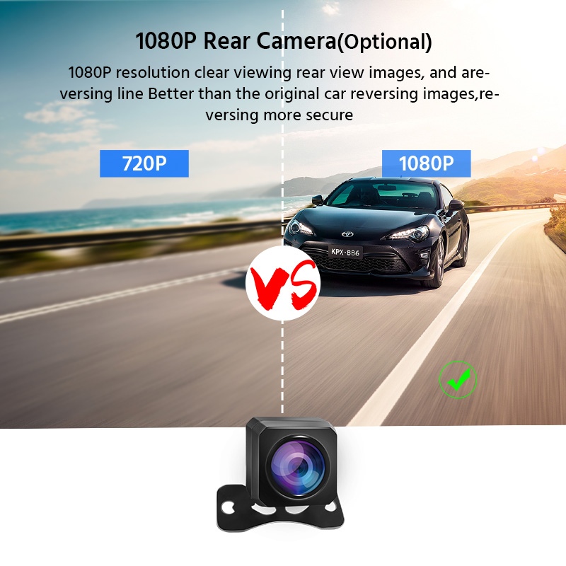 Image 5 - E ACE Car Dvr 2K Stream Media RearView Mirror Touch FHD 1080P Dual Lens Video Recorder Night Vision Auto Registrator Dashcam-in Power Adapter from Automobiles & Motorcycles
