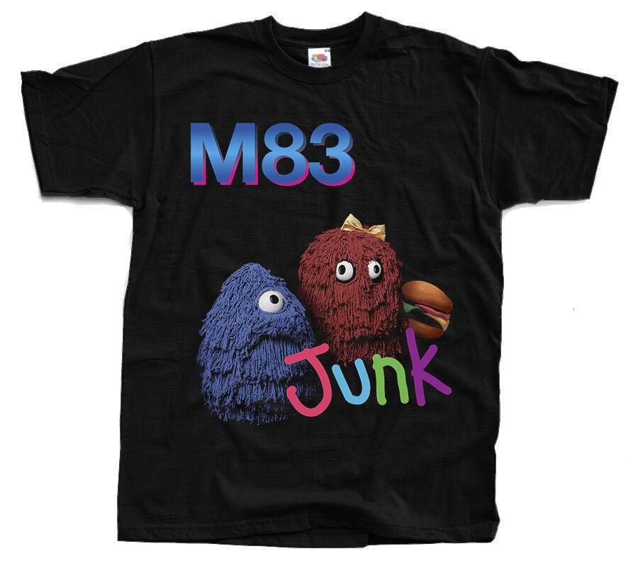 M83 Junk, 2016 Album Cover, Shoegaze T-Shirt (Black) S-5XL