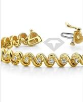 2021 Custom make 3mm white color Round Cut Silver plated white gold Moissanite tennis bracelet women's jewelry Серьги кольцо 1
