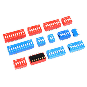 10pcs/lot DIP Switch Slide Type Red 2.54mm Pitch 2 Row DIP Toggle switches Dial switch 1p 2p 3p 4p 5p 6p 8p 7p 10p 12p(China)