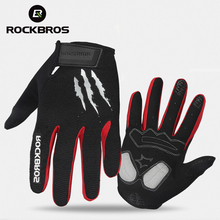ROCKBROS Cycling Gloves Sponge Pad Long Finger Motorcycle Gloves For Bicycle Mountain Bike Glove Touch Screen
