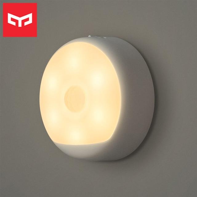 Yeelight Motion Sensor Nachtlicht USB Aufladbare Drei Installation Optionen Infrarot Magnetische mit Haken für Smart Home