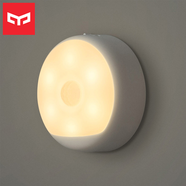 Yeelight Motion Sensor Night Light USB Rechargeable Three Installation Options Infrared Magnetic with Hook for Smart Home