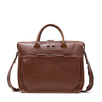 2020 Newest Men Briefcase Business Shoulder Bag Leather Messenger Bags Computer Laptop Handbag Bag Men's Travel Bags