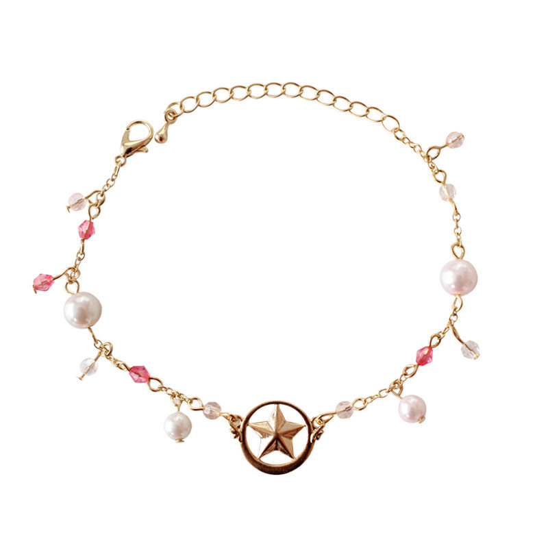Anime Card Captor Sakura Kinomoto Star Bracelet Cosplay CardCaptor Sakura Accessories Jewelry