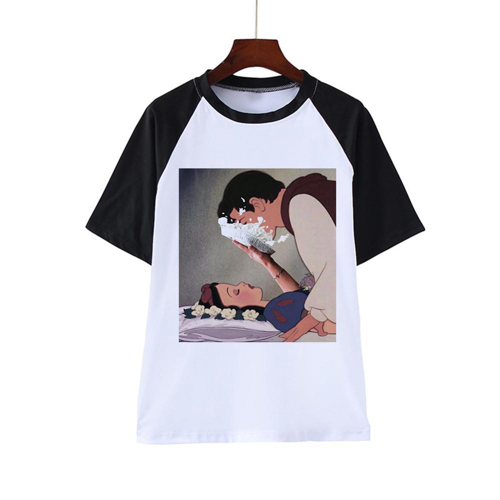 Harajuku Women T-shirts Summer Funny Print Hip Hop T-shirt Girls Student Streetwear Casual Tops Tees
