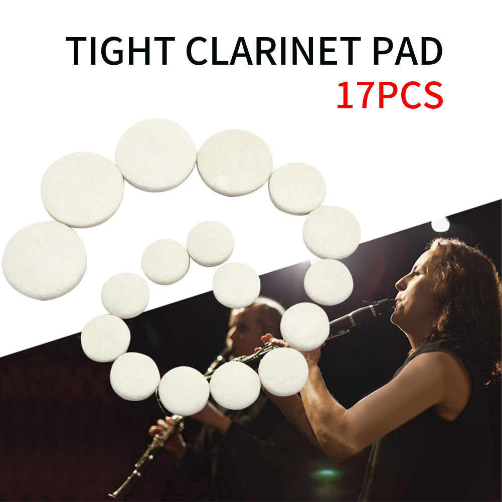 17 Pcs Sound Hole Pad Clarinet Patches Leather Pads Cushions Clarinet Mouthpiece Cushion Instrument Accessories Help Your Play Better Music