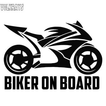 Volkrays etiqueta engomada del coche divertido Biker en vinilo protector solar impermeable calcomanías Auto motocicletas accesorios de decoración de la 20cm * 14cm