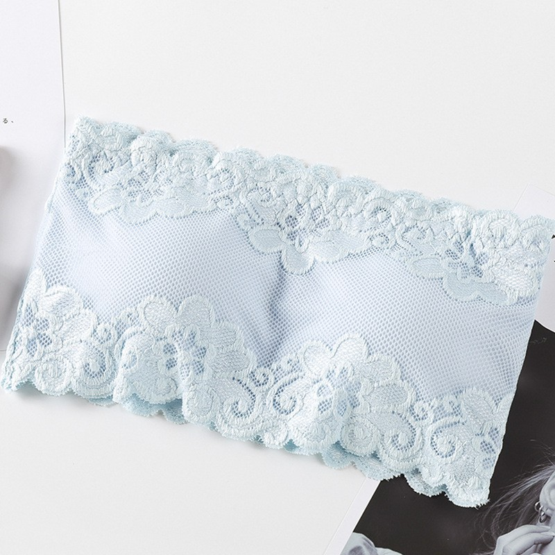 Sexy Strapless Bras Tube Tops Women Underwear Solid Lace Padded Bra Crop Tops Bustier Beachwear Lingerie Intimates 5