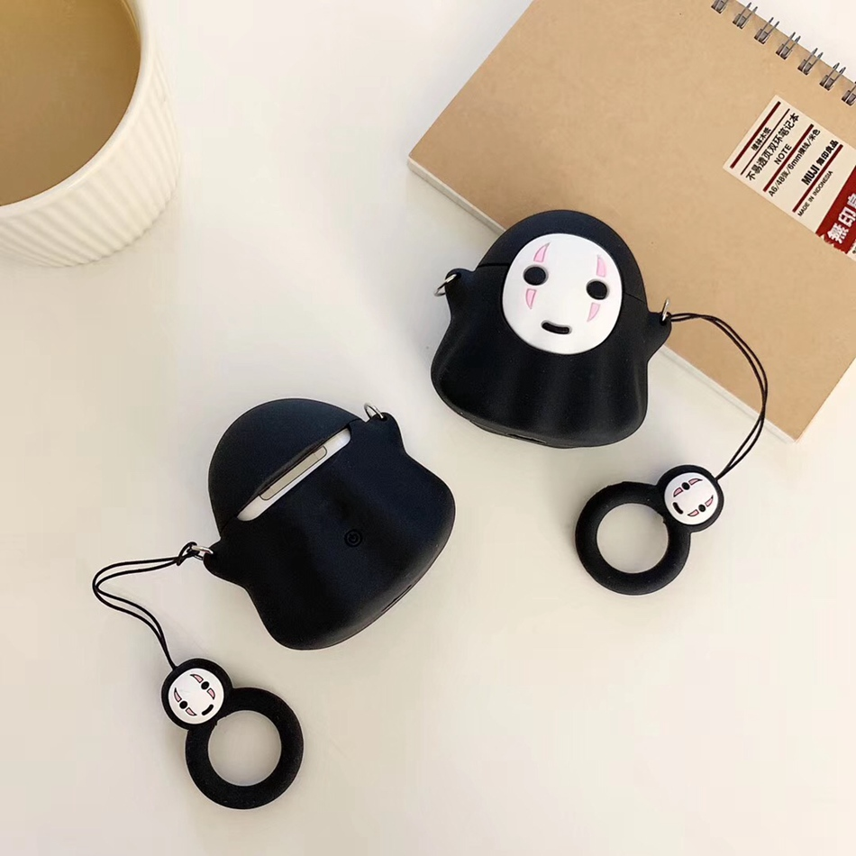 Image 5 - For AirPods Case Cute Cartoon Rabbit Pig Dumbo Earphone Case For Apple Airpods 2 Cover Soft Protect Coque with Finger Ring Strap-in Earphone Accessories from Consumer Electronics