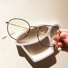 Vintage Transparent Round Glasses Women Metal Retro Eyeglasses Frame Woman Optical Myopia Prescription Frames Spectacles Eyewear