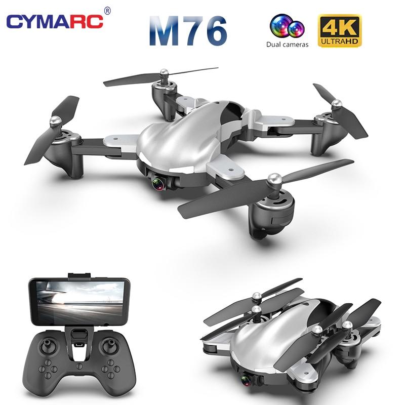 M76 Foldable Profissional RC Drone With 4K 1080P HD Camera WiFi FPV Optical Flow RC Quadrocopter Kids Toys VS SG106 E58 Xs816