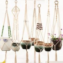 Pots-Holder Basket Flower-Pot Plant-Lanyard Large-Sized-Plant-Hanger Rope-Net Handmade