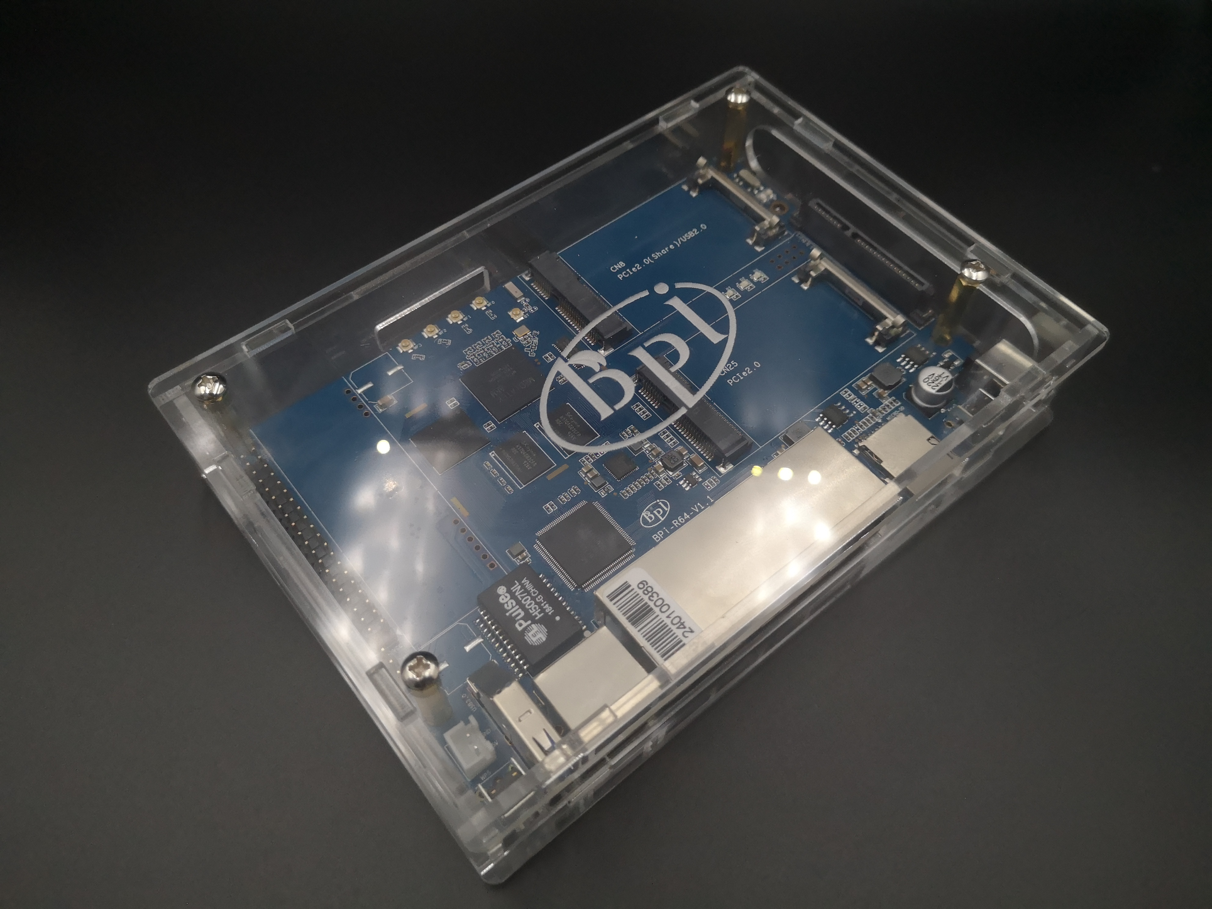 Banana PI R64 Acrylic/Clear Case
