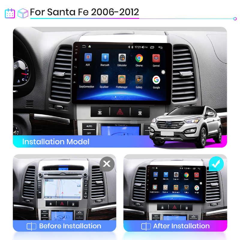 Junsun V1 Android 9.0 2G + 32G DSP araç radyo multimedya Video oynatıcı Hyundai Santa Fe 2 2006-2012 navigasyon GPS 2 din hiçbir dvd