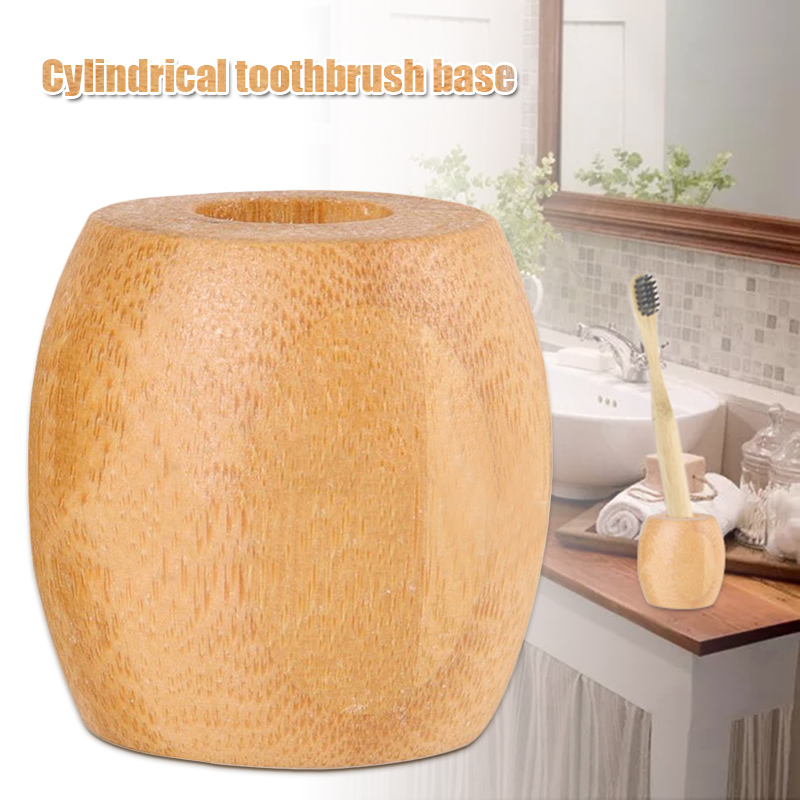 Eco-friendly Bamboo Toothbrush Base Case Wooden Toothbrush Holder Tools HUG-Deals image