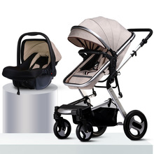 folding baby stroller 3 in 1 baby carriage car baby prams for children hot mom travel pushchair strollers baby trolley carseat new arrival brand baby strollers 3 in 1 baby carriage super light baby strollers eu standard 3 in 1 baby strollers