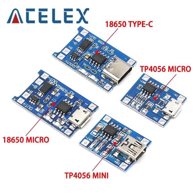 10 шт. Micro USB 5 в 1 а 18650 TP4056 модуль зарядного устройства литиевой батареи зарядная плата с защитой двойной функции 1 а li-ion