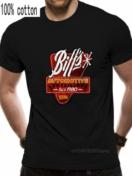 Back To The Future T- Shirt Mens BIFFS DETAIL 100% Navy Cotton in Sizes SM - 5XL 2019 New Mens T Shirts image