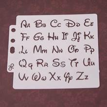 Алфавит трафареты букв шаблон картина Скрапбукинг тиснение альбом