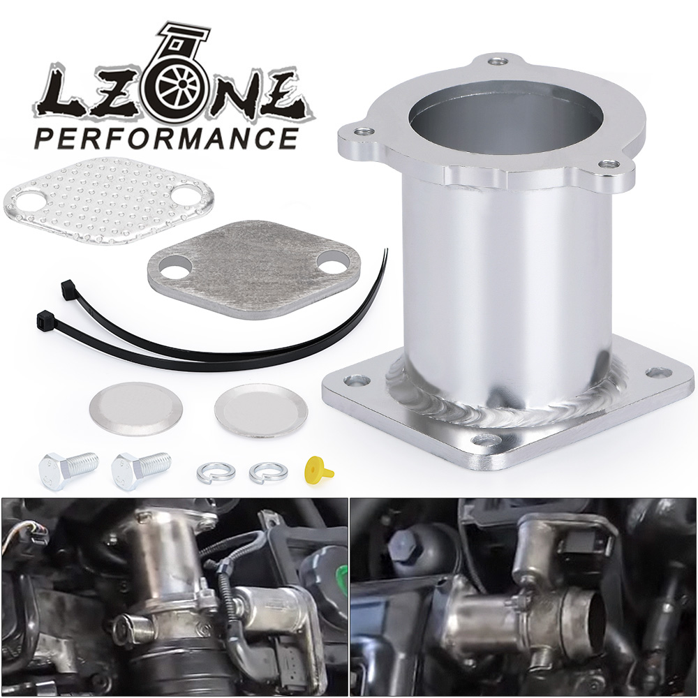 LZONE - ALUMINUM EGR REMOVAL KIT BLANKING BYPASS FOR BMW 5 SERIES E60 E61 E61N 520i 525d 530d 535d DELETE KIT JR-EGR08