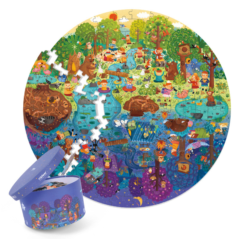Puzzle 150PCS Puzzles Toys Educational Toys Hand-painted Jigsaw Board Style Puzzles Box Set For Kids Gifts >3 Years Old