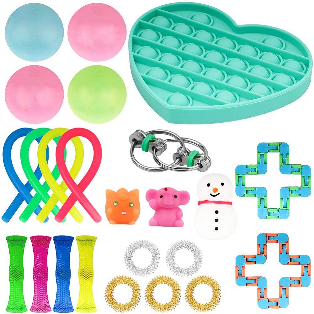 20/24 Pack Fidget Sensory Toy Set Stress Relief Toys Autism Anxiety Relief Stress Pop img1