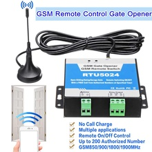 RTU5024 дверь ворот GSM реле дистанционного Управление Беспроводной открывания двери гарнитура звонки во время 850/900/1800/1900 МГц с длинной антенной
