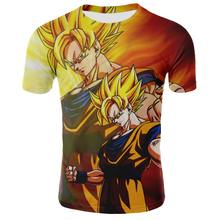 2017 New Men's Fashion Goku Dragon Ball 3D Print Casual Short Sleeve Cosplay T-Shirt Compression Tshirts Fitness ZOOTOP BEAR(China)