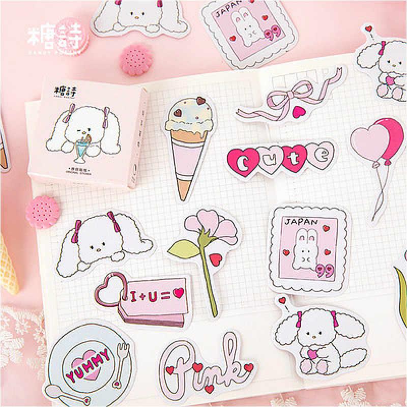 45 adet güzel pembe sevimli not defteri not defteri etiket yaratıcı pratik değiştirilebilir Sticker kırtasiye hediye seyahat dergisi