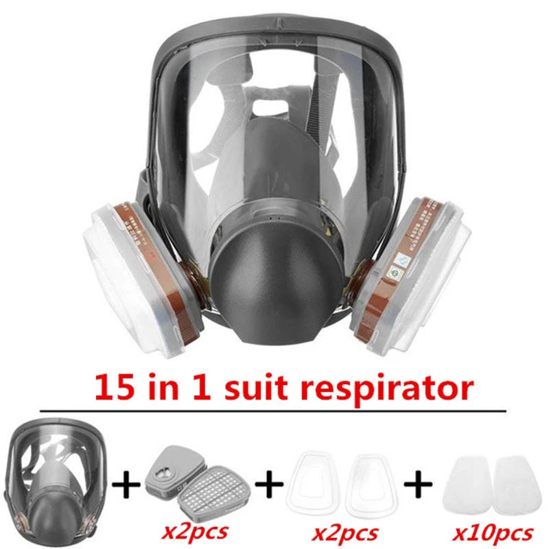 New 6800 Type Industrial Painting Spraying Respirator Safety Work Filter Dust Proof Full Face Gas Mask Formaldehyde Protection