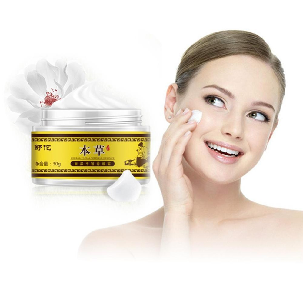 Wrinkle Cream Chinese Herbal With Retinol, Jojoba Oil, Vitamin E. Reduces Fine Lines Repair Dry Lines Moisturizing Cream