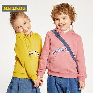 Image 4 - Balabala ילדי בגדי בנות סתיו נים חדש סגנון ילד סתיו בגדי sweatershirt תינוק ברדס 2019 נים בגדים
