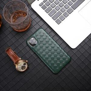 Image 5 - الأزياء المنسوجة نمط جلد طبيعي حالة ل فون XS ماكس/XS/ X/ XR الأصلي الهاتف غطاء ل فون 11 برو XS ماكس عودة حالة